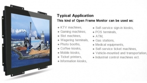 What are the advantages of embedded industrial monitors?