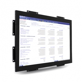 19 inch industrial multi-inputs open frame monitor