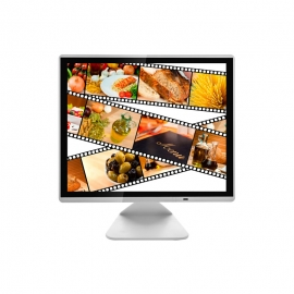 15 inch flat screen capacitive touch monitor